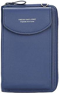 Modische Handy Tasche Geldbörse für Damen, große Kartenfächer, Handtasche, einfarbig, diagonale Tasche, Multifunktions-Clu...