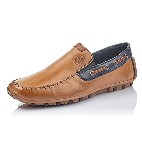 Rieker Venton Mens Slip On Driving Shoes 9 UK Toffee Brown