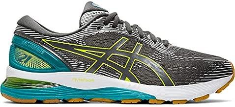 ASICS Men's Gel-Nimbus 21 Running Shoes, 8M, Dark Grey/Glacier Grey