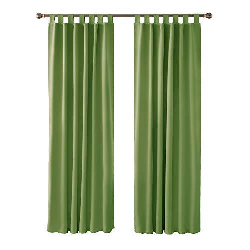 cortinas habitacion verde militar