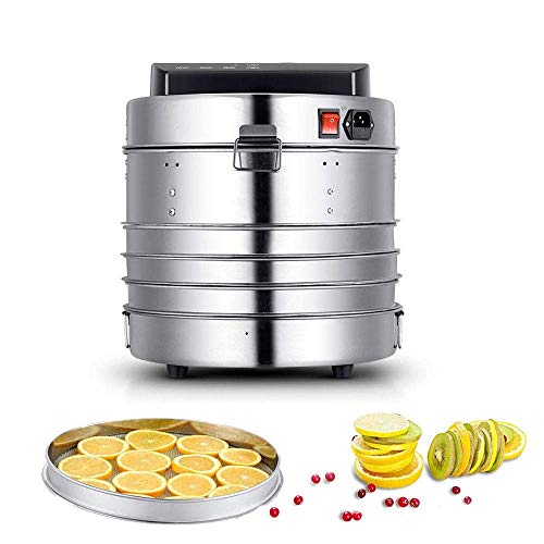 Sale!! CHENJIU All Stainless Steel 5 Tray Food Dehydrator Adjustable Thermostat, Fruit & Vegetables ...