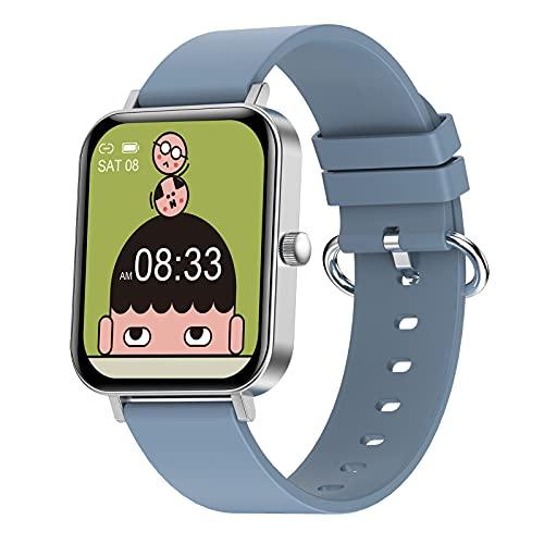 BNMY Smartwatch Relojes Inteligentes Reloj Digital Monitor De Sueño, Reloj Deportivo Pulsometro, Pulsera Actividad Inteligente Caloría, Reloj Inteligente para Android E iOS,Plata