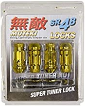 Muteki 32902Z Wheel Mate Muteki SR48 Open End Locking Lug Nut Set of 4 - Gold Chrome