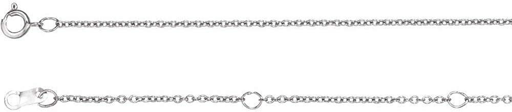 1mm Adjustable Cable Chain Necklace Adjustable