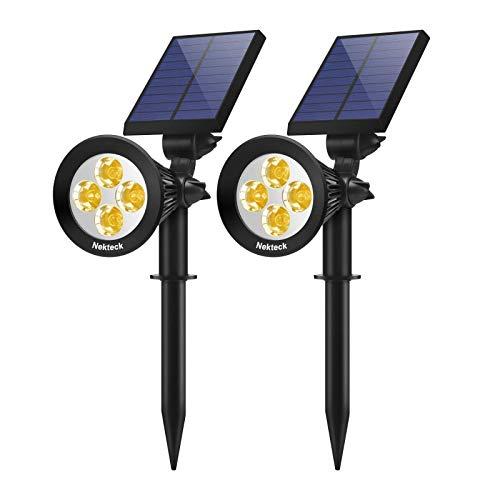Nekteck 2 Pack Solar Lights,2-in-1 Outdoor Solar Spotlights Powered Adjustable Wall Light Landscape...