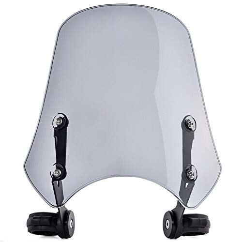 ACEACE Motorcycle Windshield Wind Deflector Parabrisas para Softail Fat Bob FXDF Wide Glide FXDWG FXDB Street Bob 2006-2019 (Color : Light Smoke)