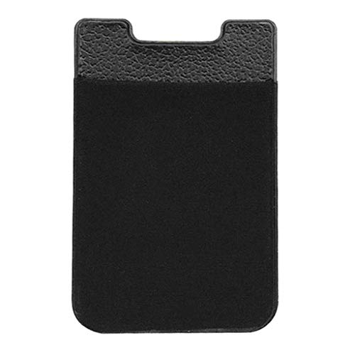 Njuyd - Mini cartera de piel con soporte magnético para coche para mini teléfono móvil, seguro para tarjetas, ranuras, Black (Negro) - njuyd