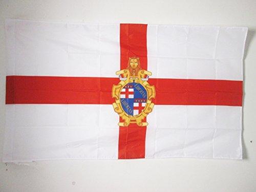 AZ FLAG Bandera de BOLONIA con Armas 150x90cm para Palo - Bandera BOLONIA EN Emilia-ROMAÑA 90 x 150 cm