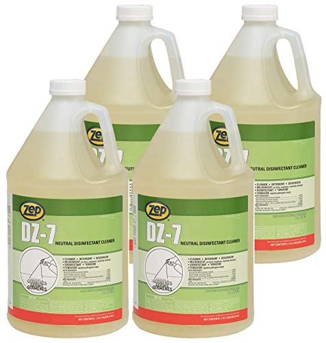 Zep DZ-7 Detergent Disinfectant 1 Gal 752023 (Case of 4) Bactericidal, Virucidal, Fungicidal and Mildewstat