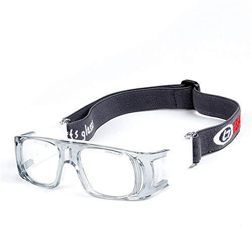 Children's outdoor basketbal voetbal badminton anti-shock sportbril Transparant grijs