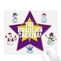 カーニバルパッション クリスマス・雪人家族ゴムのマウスパッド