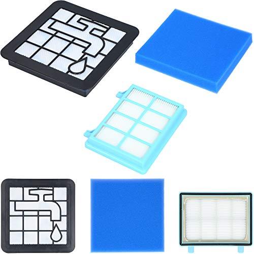 Juego de filtros de 3 piezas para aspiradora Philips PowerPro Compact y Active FC8010/02, incluye 3 filtros