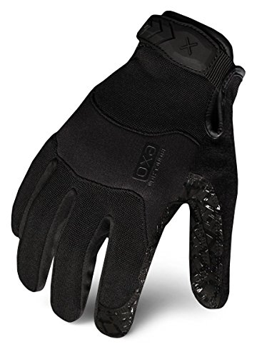 Ironclad EXOT-GBLK-04-L Tactical Operator Grip Glove, Stealth Black, Large