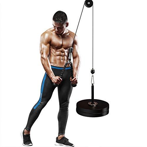 PELLOR Carrucola Muscolare con Corda per Tricipiti, Peso Massimo 50 kg per Esercizi Avambraccio Spalle Deltoidi