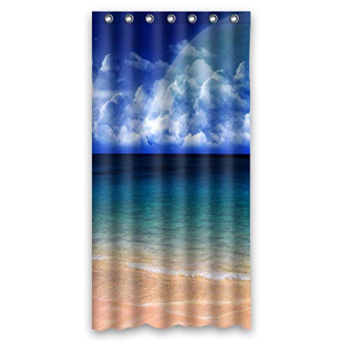FMSHPON Fashion Blue Seashore Waterproof Fabric Shower Curtain 36x72 Inches