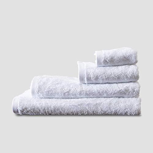 Amystat toallas de mano y baño - toalla de bambú eco - Blanco (30x50)
