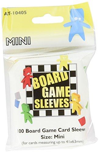 Arcane Tinmen 100 CLEAR BOARDGAME CARD SLEEVES BUSTINE TRASPARENTI Mini//Standard