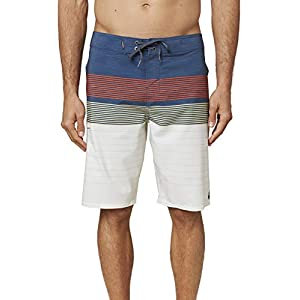 O'NEILL Men's Water Resistant Hyperfreak Stretch Swim Boardshorts, 21 Inch Outseam | Long-Length Swimsuit |