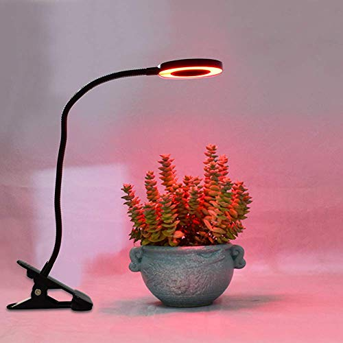3 Modes Dimmable Plant Light, 3/9 / 12H Self Timer LED Grow Light, Red/Blue Spectrum, 360 Degree Adjustable Gooseneck Grow Light for Greenhouse, 1 Light