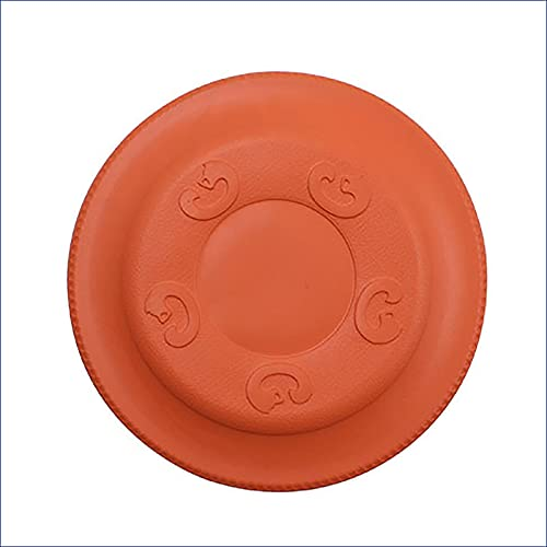 Dog Flying Ball es indestructible, adecuado para perros grandes, frisbee suave para entrenamiento, bandeja de hielo para mascotas pesada y duradera, juguete volador interactivo y livian(Color:naranja)