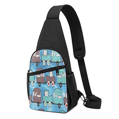 Wearibear - Mochila para remolque de camping, diseño vintage con correa para el hombro, ligera, portátil, ligera, con correa cruzada, para viajes, senderismo, acampada