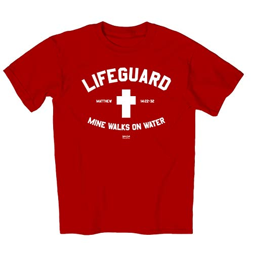 Christian T-shirt Lifeguard Kerusso Design (3X-Large), Red