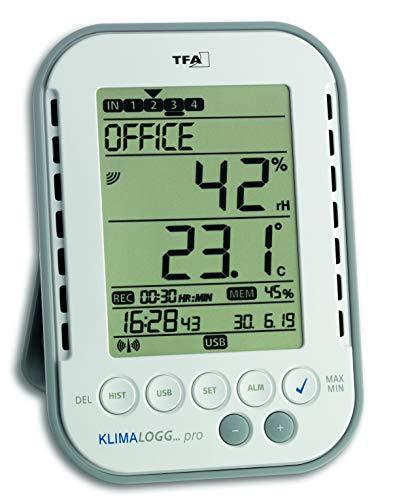TFA Dostmann Klimalogg Pro Profi-Thermo-Hygrometer, 30.3039, mit Datenlogger-Funktion