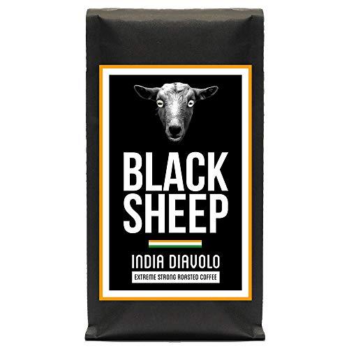 Black Sheep Coffee - India Diavolo | Ganze Bohnen aus Indien | Sehr kräftiger Kaffee mit wenig Säure | sehr dunkle Trommelröstung | Nicht für schwache Gemüter und schwangere Frauen empfohlen