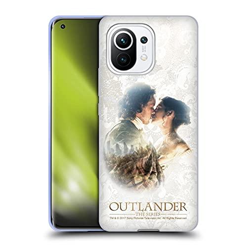 Head Case Designs Licenza Ufficiale Outlander Claire E Jamie Bacio Primi Piani Cover in Morbido Gel Compatibile con Xiaomi Mi 11