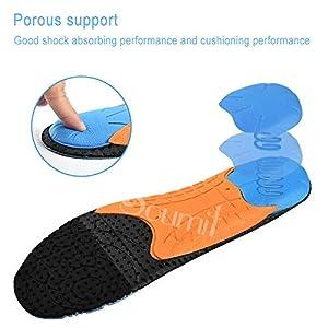 CUS Orthotics Plantillas de Calzado Deportivo para pies Planos Atleta Longitud Total ConfortInserciones de Soporte de ArcoTranspirablepara Hombres Mujeres, EU40-41