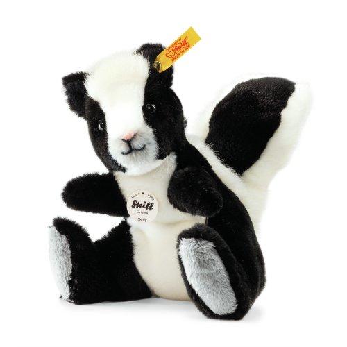 Steiff 063589 - Sniffy Stinktier 15 aufwartende Plüsch, schwarz/weiß