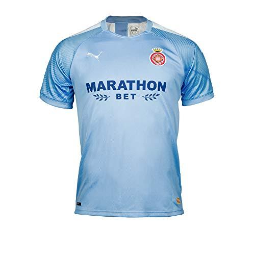 Girona FC Oficial Segunda Equipación Camiseta 2019-20, Mujer, Azul, L