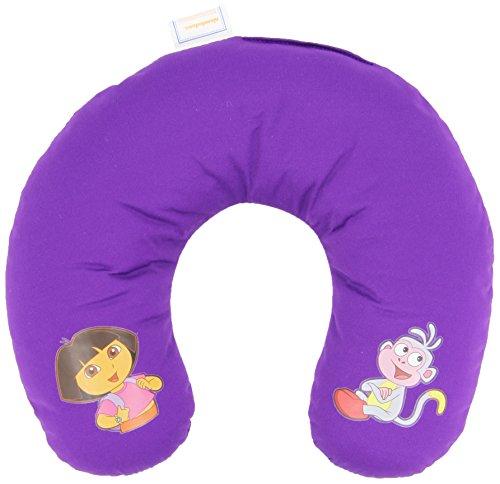 Oreiller de voyage pour enfants - en forme de U - Dora l'exploratrice - coussin cervical – violet