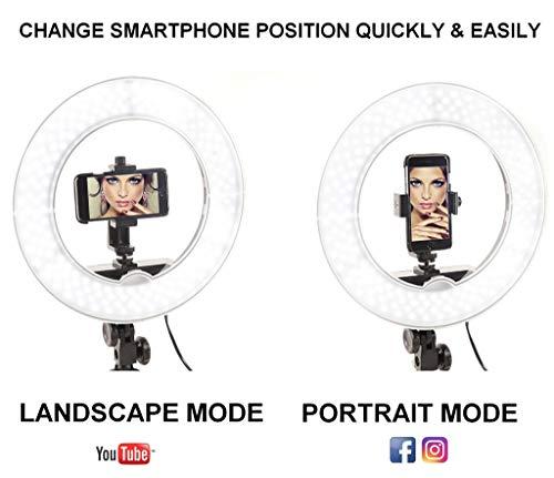 "Socialite Ring Light - 14"" Dimmable LED Lighting Kit w/Travel Bag for YouTube, Webinar, Social Media Photos - Remote Controlled Studio Lights w/ 6ft Stand - Works w/DSLR Camera, All Smartphones"