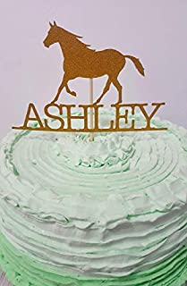 Personalized Horse Cake Topper