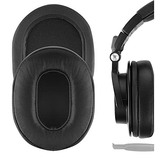 Geekria Elite Sheepskin Replacement Almohadillas para Audio-Technica ATH-M50X ATH-M40X ATH-M30X ATH-M20X ATH-M10X, Headset Ear Cushion Repair Parts (Negro)