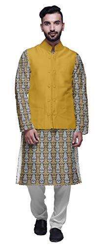 Atasi Indian Lange Kurta-Pyjama-Jacke für die Herren Printed Lässige Kleidung