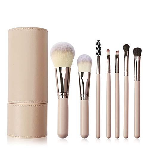 7pcs pinceau de maquillage rose pour fond de teint mélange blush correcteur fard à paupières avec support de maquillage (rose) Brosse à maquillage XXYHYQ