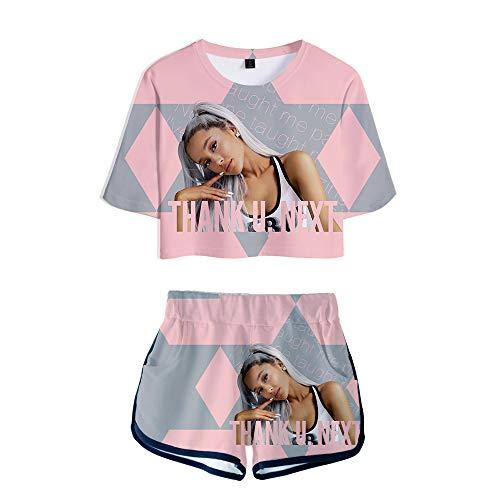 MR.YATCLS Ariana Grande T-Shirt con Stampa 3D da Donna - Set da Bambina - T-Shirt A Manica Corta per Donna