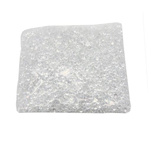 Evilandat 5000 PCS Streudeko Diamant Tischdeko Stein Verzierung Hochzeit Glitzert Klar Bling Faux Acryl Optik, 4,5mm, Weiß