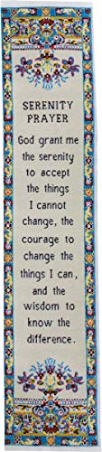 Serenity Prayer, Woven Fabric Christian Bookmark, Silky Soft Divine Peace Flexible Bookmarker for Novels Books and Bibles, Traditional Turkish Woven Design, Flexible and Soft Bookmark Gift