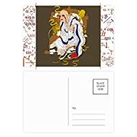 黒犬の自然動物のシルエット 公式ポストカードセットサンクスカード郵送側20個