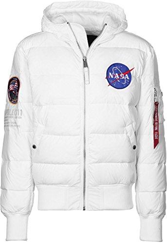 Alpha Industries Hooded Puffer Apollo 11 Daunenjacke Weiß M
