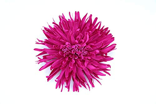 Flore de tela con broche 'Elena' (Fucsia)