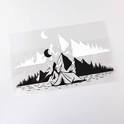 RUIRUI Camping Travel Mountains Moon Aufkleber Vinyl Auto Aufkleber 25.5Cmx11.1Cm