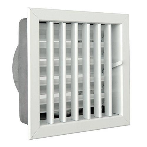 La ventilación gcsib1818120-y Rejilla integrado para chimeneas, aluminio lacado blanco, 180x 180mm
