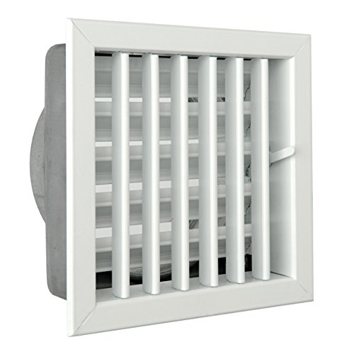 Ventilatierooster voor inbouw van open haarden 180 x 180 mm Alluminio Verniciato Bianco