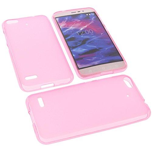 foto-kontor Tasche für MEDION Life E5006 Gummi TPU Schutz Handytasche pink