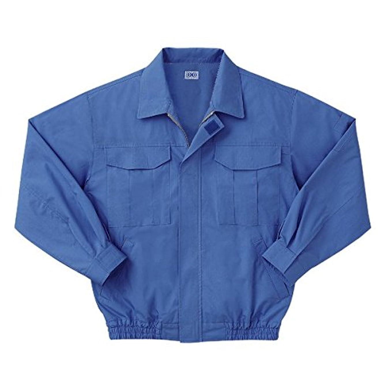 補助構成するあいまいな空調服 綿薄手長袖作業着 M-500U (カラーライトブルー: サイズL) 電池ボックスセット