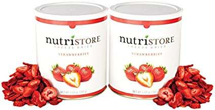 Freeze Dried Sliced Strawberries by Nutristore | Pack of 2 | 14 Total oz | Amazing Taste | Healthy Snack| Survival Food